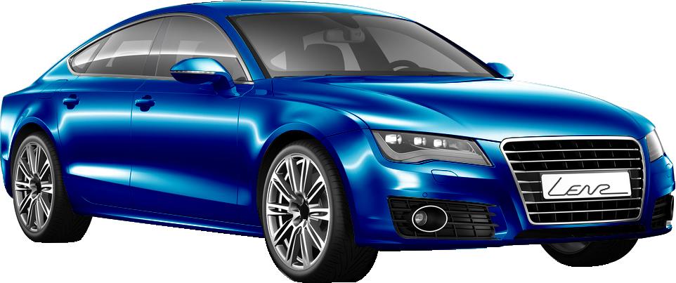 Autofolierung Blau